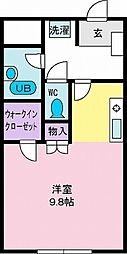 ヴァンフォーレ石坂I[2階]の間取り