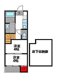 エコースクエア[1階]の間取り