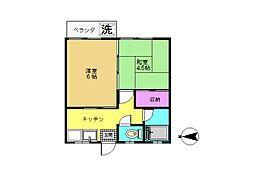 大磯マンション[306号室]の間取り
