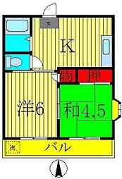 ムトウコーポ[2階]の間取り