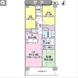 神奈川県川崎市宮前区土橋6丁目の賃貸マンションの間取り