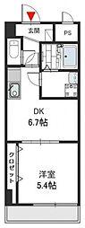 Social Village(ソシアル ビレッジ)[6階]の間取り