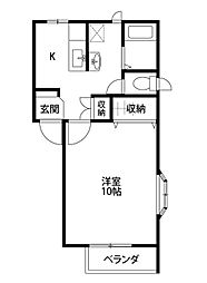 新潟県新潟市中央区南笹口1丁目の賃貸アパートの間取り