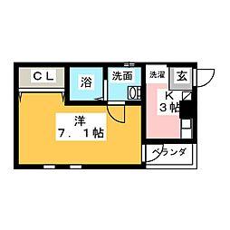 A-legato浅間町[2階]の間取り