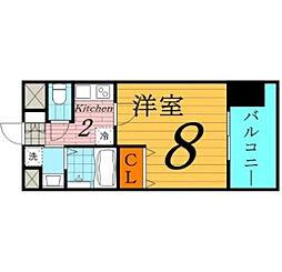 W.O.B.京橋[6階]の間取り