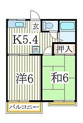 ファミーユ台田B[2階]の間取り