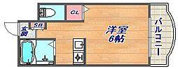 カサイマンション[301号室]の間取り