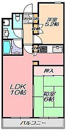 兵庫県神戸市東灘区本山中町2丁目の賃貸マンションの間取り