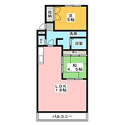 サンシティーマンション[3階]の間取り