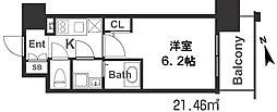 エスリード梅田グレイス[7階]の間取り