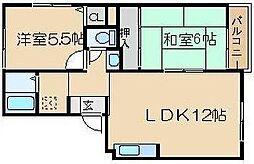 ボナールシャトレ[1階]の間取り