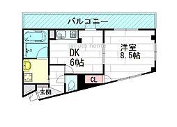アンジェリカ豊津[3階]の間取り