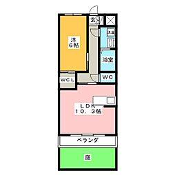 メゾンブローニュ 11[1階]の間取り