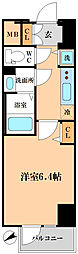 ララプレイス難波シエール[3階]の間取り