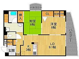 ペティエ武庫之荘[3階]の間取り