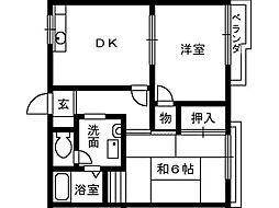 アーバンハイツ2[1階]の間取り