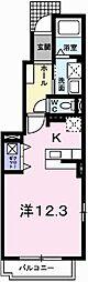 兵庫県揖保郡太子町糸井の賃貸アパートの間取り