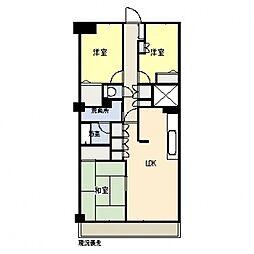 エクレール横浜[402号室号室]の間取り