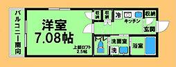 JR横浜線 八王子みなみ野駅 徒歩9分の賃貸アパート 1階1Kの間取り