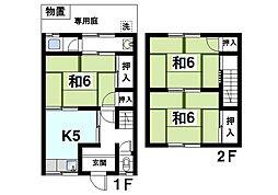 [テラスハウス] 奈良県奈良市山陵町 の賃貸【/】の間取り