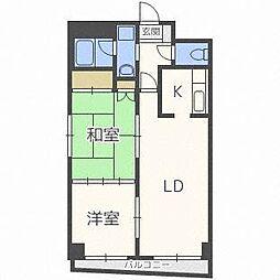 北海道札幌市厚別区厚別中央三条1丁目の賃貸マンションの間取り