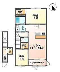君津市法木作新築アパート[205号室]の間取り