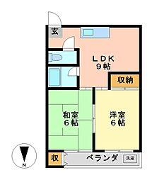 愛知県名古屋市中村区本陣通5丁目の賃貸マンションの間取り