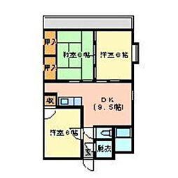広島県東広島市西条中央5丁目の賃貸マンションの間取り