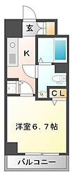 ハピネス江坂[10階]の間取り