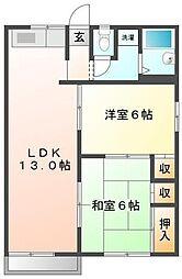 静岡県伊豆市牧之郷の賃貸アパートの間取り