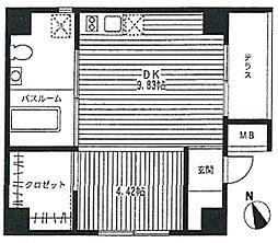 東京都台東区雷門2丁目の賃貸マンションの間取り