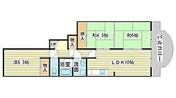 兵庫県たつの市龍野町日山の賃貸マンションの間取り
