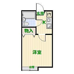 グランソレイユ亀有C[2階]の間取り