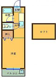 プレステージ 207号室[207号室号室]の間取り