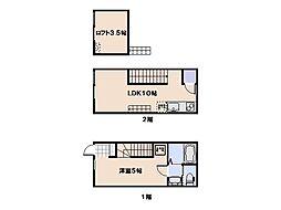 casa cozy隅の浜[103号室]の間取り