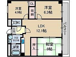 マンションフォルツーナ[5階]の間取り