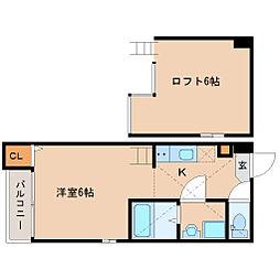 兵庫県尼崎市西立花町2丁目の賃貸アパートの間取り
