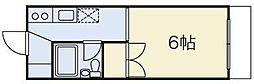 第三富士見荘[104号室]の間取り