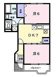 ベル・セゾンⅠ[1階]の間取り