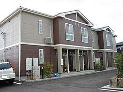 愛媛県松山市西長戸町の賃貸アパートの外観