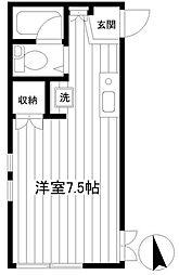神奈川県横浜市磯子区岡村3の賃貸アパートの間取り