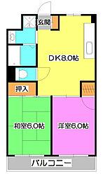 セジュール・ド・ミワ弐番館[5階]の間取り