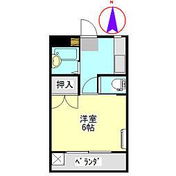 コーポ大桜III[8B号室]の間取り
