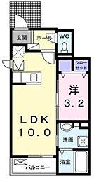 小田急江ノ島線 湘南台駅 バス10分 南原下車 徒歩5分の賃貸アパート 1階1LDKの間取り