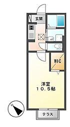 愛知県名古屋市中川区南脇町3の賃貸アパートの間取り