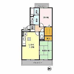 ボナール・ユー[3階]の間取り