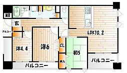 シティーガーデンBONJONO[3階]の間取り