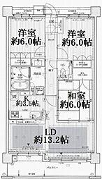 エスリード帝塚山[5階]の間取り