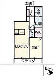 仮)JA賃貸豊田市三軒町 3階1SLDKの間取り