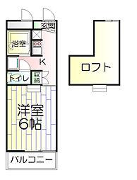 東京都足立区栗原4丁目の賃貸マンションの間取り